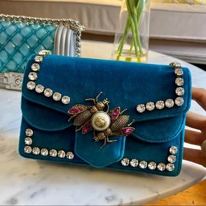 Gucci Limited edition Teal Velvet bag